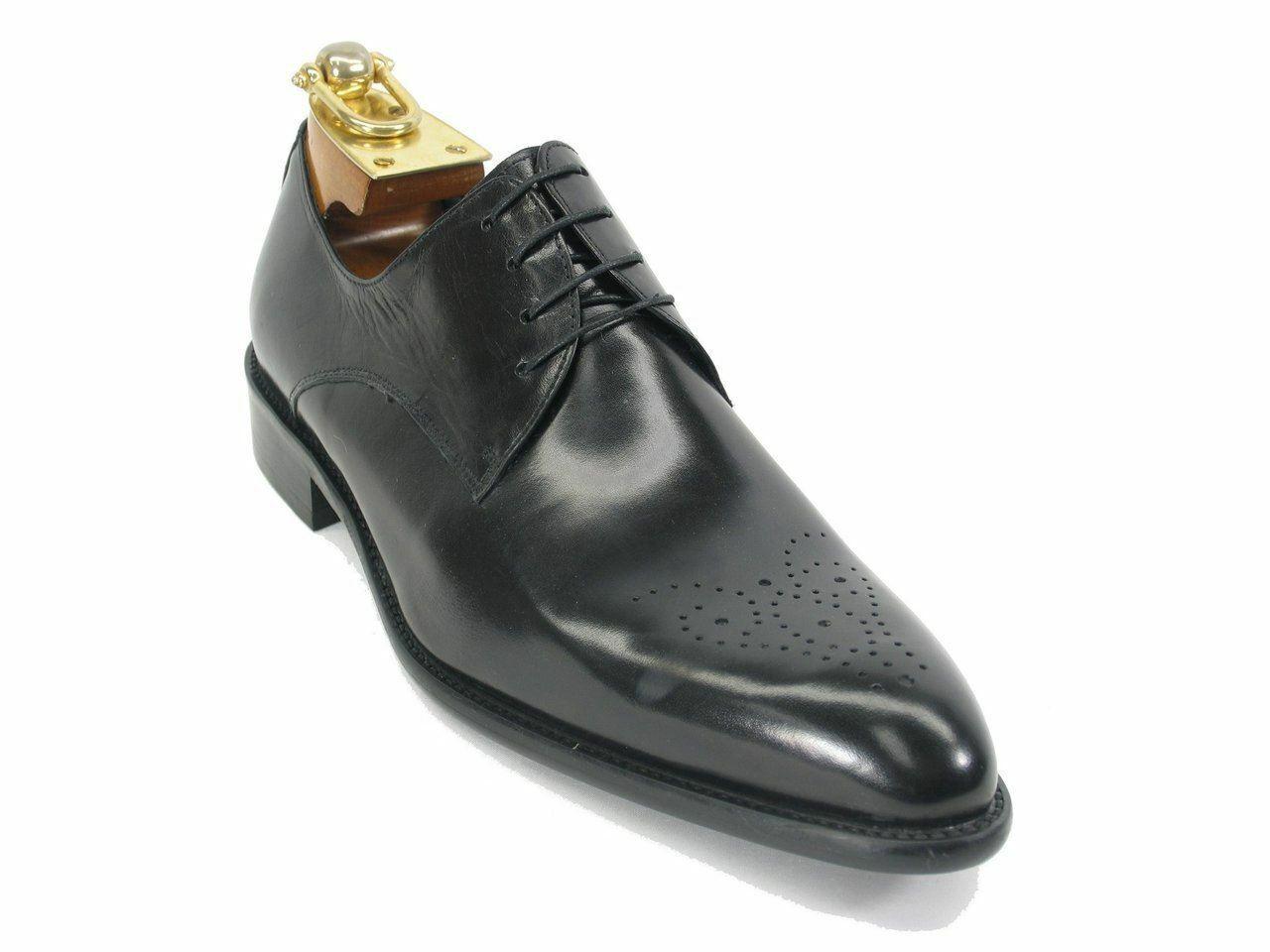 Carrucci Para Hombre De Cuero Con Cordones Oxford Vestido Negro Zapatos KS479-04