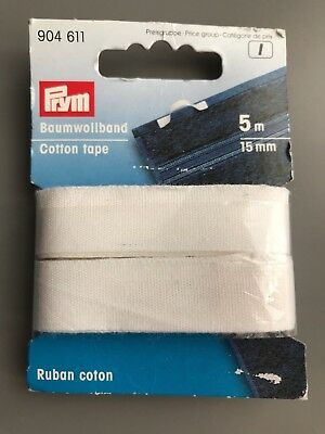 Prym 30 mm 5 m Hemming Web with Backing Paper White Twin Pack