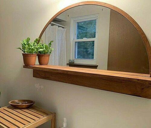 Half Round Semicircle Wall Mirror, Half Round Wall Shelf