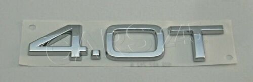 Genuine Chrome 4.0 T Inscription AUDI A8 S8 quattro 4H2 4H8 4H0853743G2ZZ