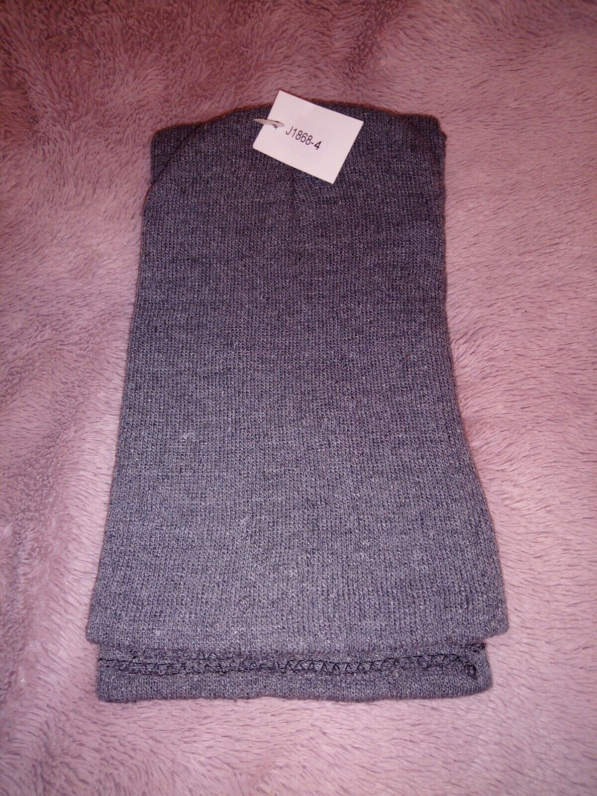 Hat And Scarf Set Grey New