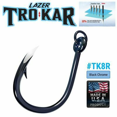 2 pks NEW Eagle Claw Trokar Heavy Duty Extreme Live Bait Hook 7pk Size 8//0 TK8-8
