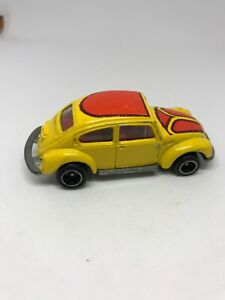 Tomica-TOMY-Japan-Car-No-F20-Volks-Wagen-Beetle-Bug-1977-Yellow-Vintage-Diecast