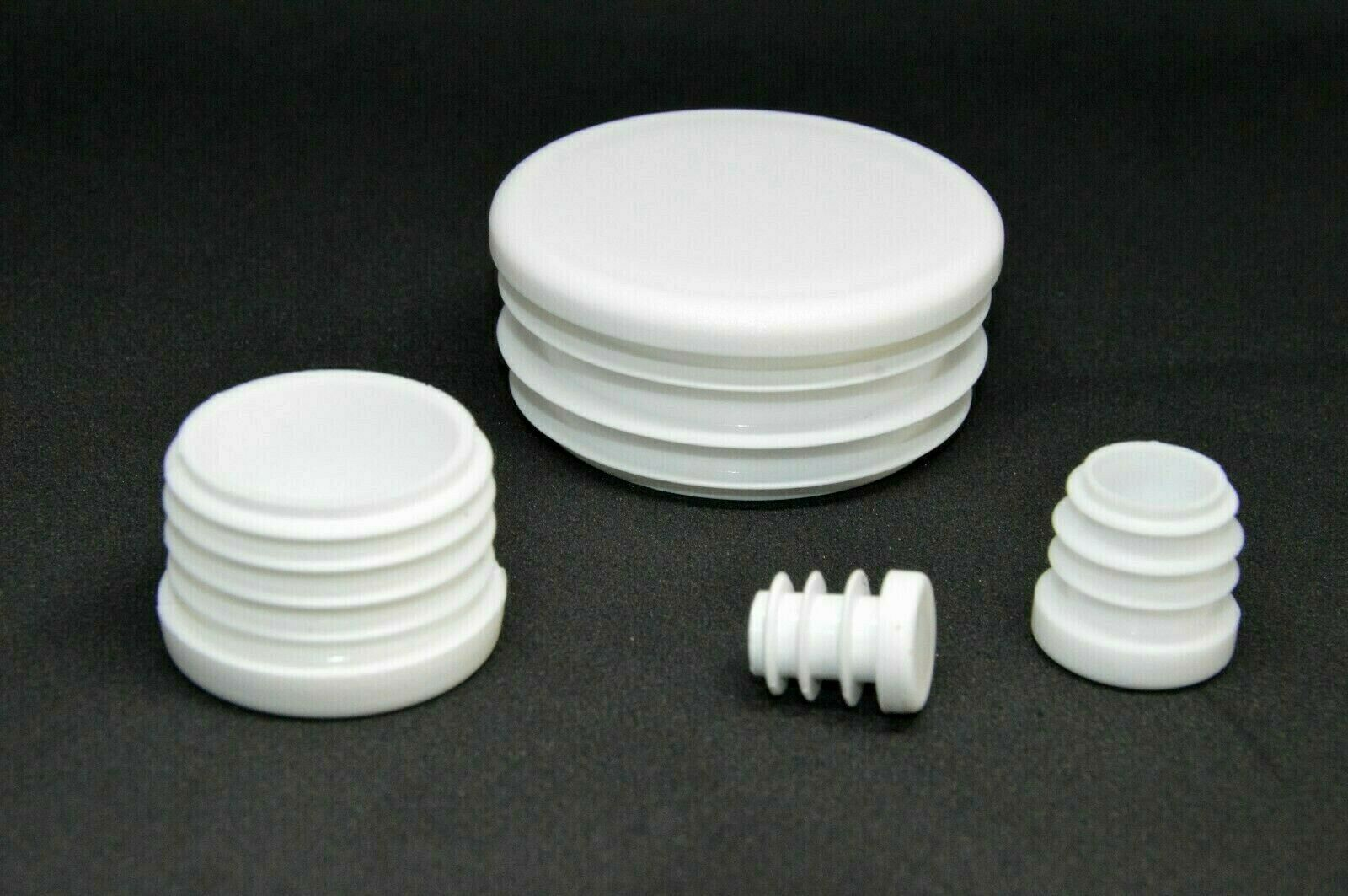 50mm Round Tube Insert Plug Pipe Blanking End Edge Caps Bungs Made in Germany