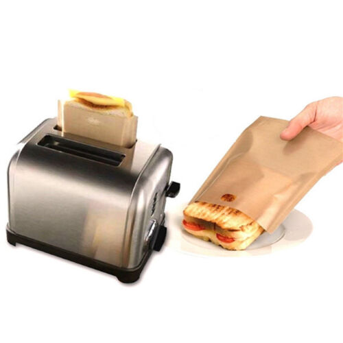 Easy Reusable Non-stick Toaster Bags for Grilled Cheese Sandwiches Made AB
