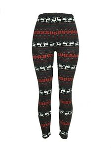 Reindeer-Snowflake-Christmas-Leggings-Tall-amp-Curvy-Yoga-TC-Buttery-Free-Shipping