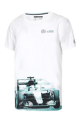 Mercedes Benz AMG Formula 1 Petronas 2017 Men's Car Graphic White T-Shirt