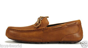 UGG Australia Chester Mens Loafers Slippers Moccasins - Chestnut - Size 13