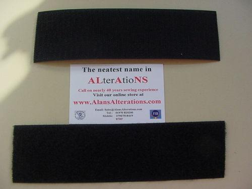 VELCRO® Brand 50mm Sew on Tape Black  5m Hook /& 5m Loop tape for Fabric