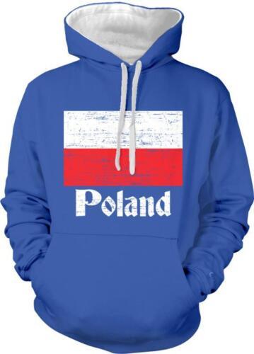 Poland Flaga Polish Pride Polski Polska Duma 2-tone Hoodie Pullover