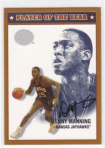 DANNY MANNING KU KANSAS JAYHAWKS 2001 FLEER GREATS POY CERT AUTO AUTOGRAPH CARD
