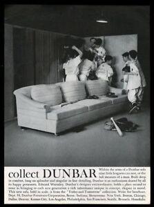Details About 1961 Dunbar Edward Wormley Sofa Little League Players Photo Vintage Print Ad