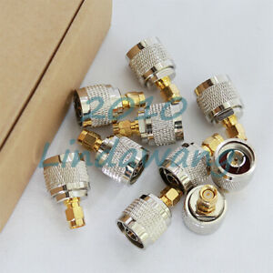 10x-N-Male-Jack-to-SMA-Male-Plug-RF-Straight-Coax-Connector-Adapter-Converter