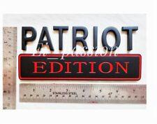 Patriot Edition Black Amp Red Fit All Car Trucks Gate Custom Emblem Side Fenders Fits 1999 Jeep Wrangler