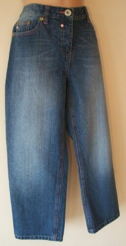 Girls Capri Cropped Jeans Age 15 Years New Blue Denim Womens Size 10 12