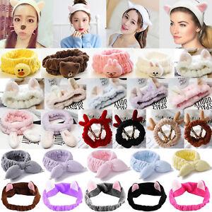 2019 Cute Soft Animal Ear Towel Hair Band Wrap Headband For Bath Spa ... 31d2487ee9b2