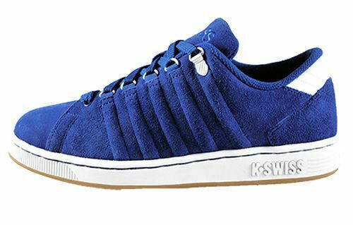K-Swiss Mens Lozen Suede Casual Lace Up Trainers bluee (03364-432)