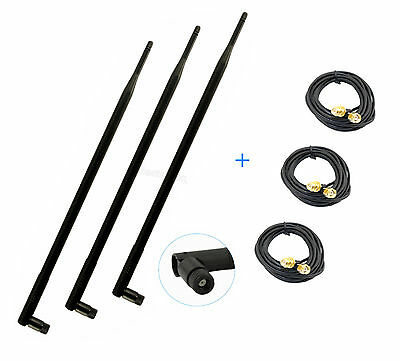 10ft Extension Cable for TP-Link TL-WR841ND 3 9dBi 2.4G 5G WiFi RP-SMA Antenna