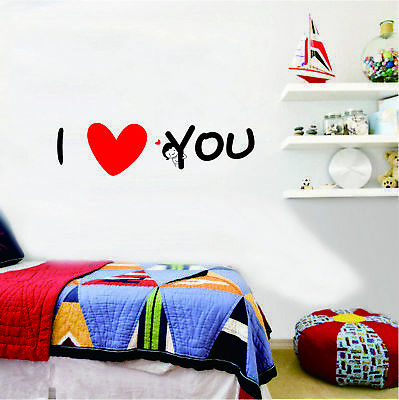 I Love You Wall stickers Removable decals home decor DIY art kids mural