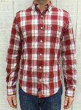 Men's Abercrombie & Fitch Plaid Shirt, Red, Small