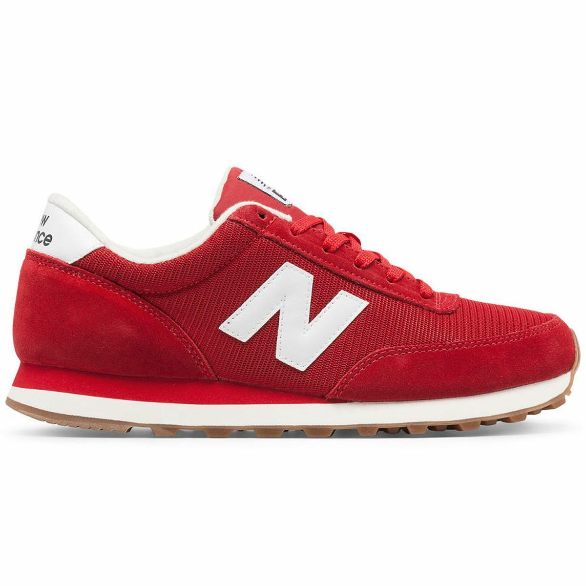 New Balance White 501 Running Classics Red White Balance Mens Trainers 7a72dd