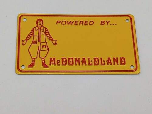 Vintage Ronald McDonald Powered By McDonaldland Bicycle Licence Plate 1976 NEW