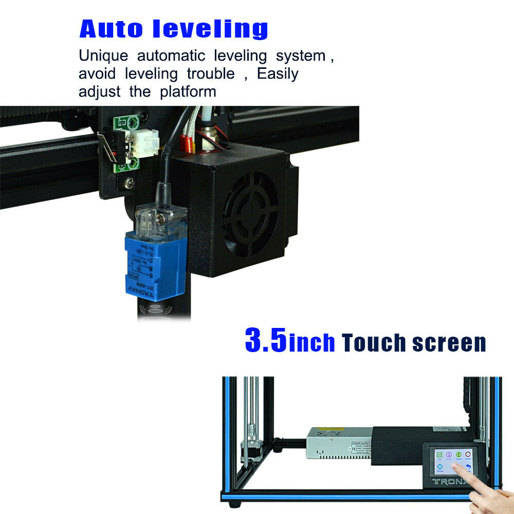 New X5SA 3D Printer kit with Touch screen and Automatic Leveling With One Button
