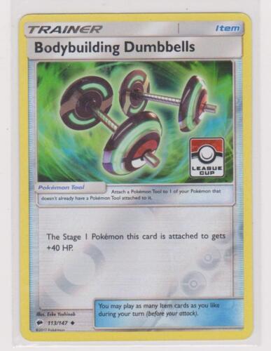 Pokemon TRAINER BODYBUILDING DUMBBELLS 113//147 UNCOMMON REVERSE FOIL PROMO