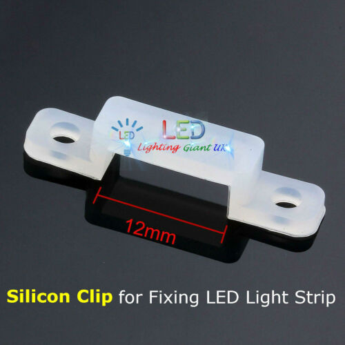 12mm and 10mm Fixing Clip For 3528//5050 LED Light Strip With Tapping Screw