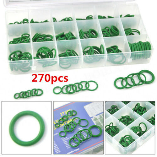 270Pcs 18 Sizes Kit Car Auto Air Conditioning A//C System HNBR O Rings Seals Tool