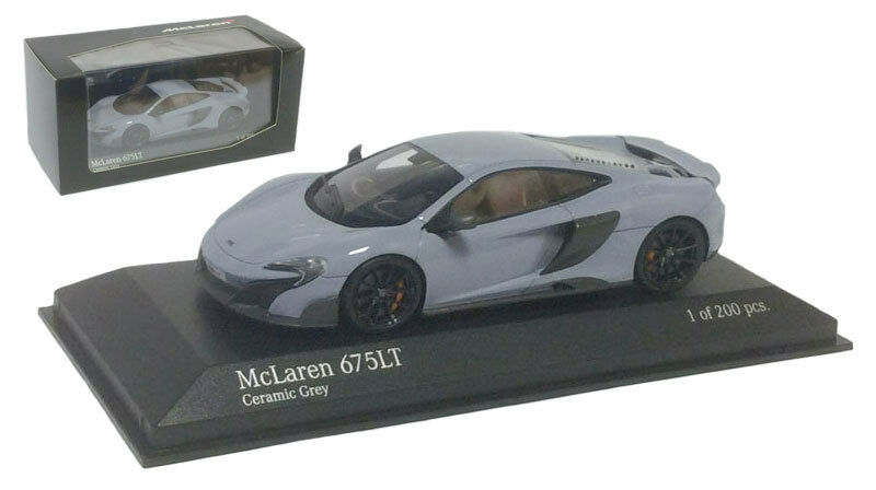 Minichamps 537154420 McLaren 675LT COUPE 2015-CERAMICA GRIGIO SCALA 1 43