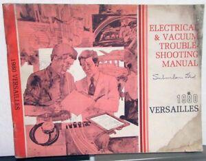 1980 Lincoln Versailles Dealer Electrical & Vacuum Wiring ...
