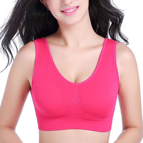 Women Seamless Fitness Sports Bra Underwear Yoga Stretch Plus Size S-3XL