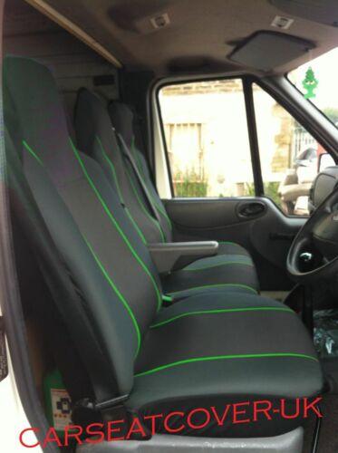 Single Double HEAVY Duty GREEN Trim VAN Seat COVERS Fiat Ducato 11 on