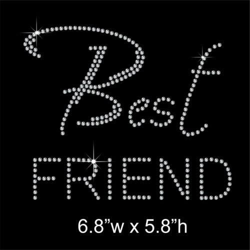 """/""""mejor amigo/"""" Fiesta diamantes de imitación//Diamante Transferencia HOTFIX En Hierro Con Un Regalo Gratis"""