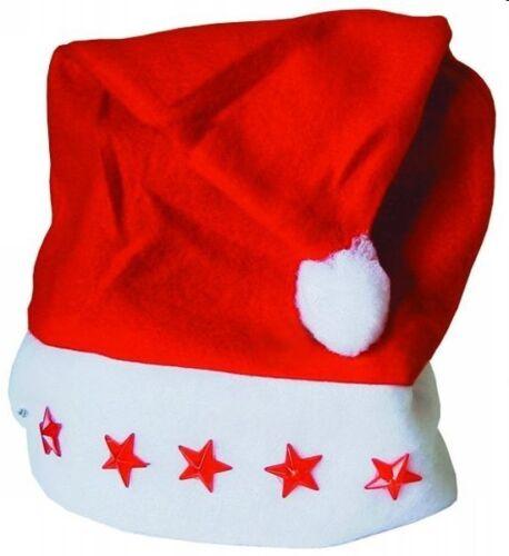 batterieBabbo Natale CappelloNUOVI 6x Cappello Natale con stelle intermittente incl