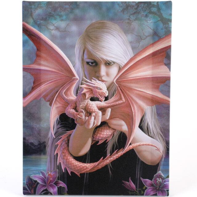 Fantasy Gothic Art Canvas Wall Plaque~Dragon Kin~ Anne Stokes~H~uk seller
