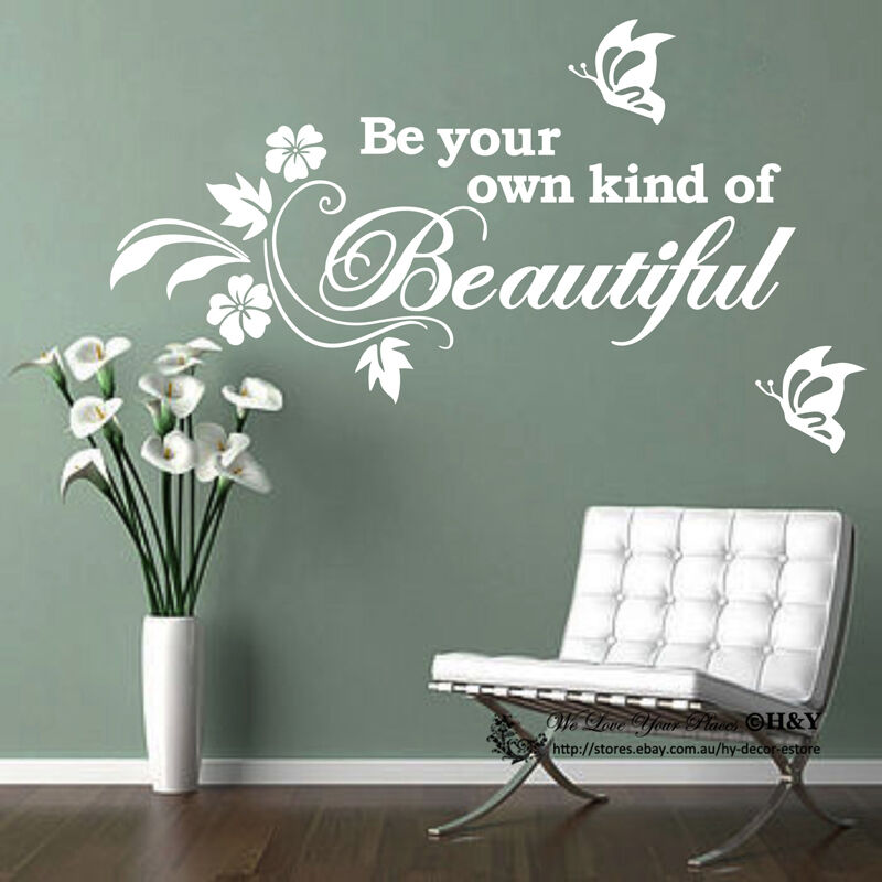 Be Your Own Kind Of BEAUTIFUL Removable Wall Art Sticker Quote