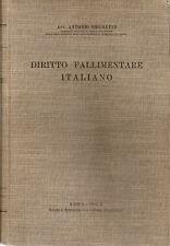 ANTONIO BRUNETTI: DIRITTO FALLIMENTARE ITALIANO _ Soc. Ed. del FORO ITALIANO