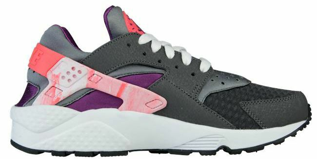 Nike Aire Huarache Mineral/ Laser Crimson / Uva Gris Real Real Gris Mujer Zapatillas 3f12f5