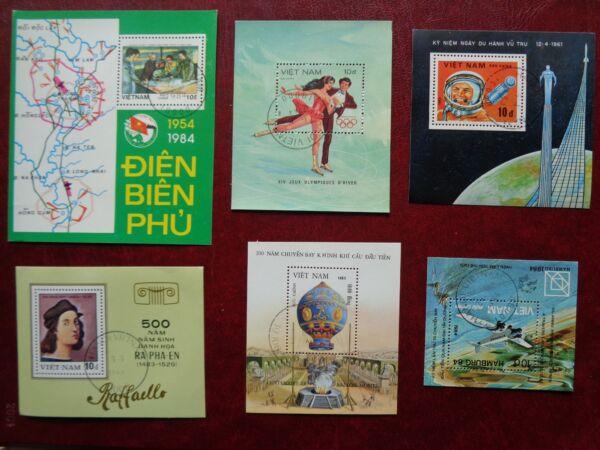 1983-1984 Vietnam Souvenir Sheet Collection Limpide à Vue