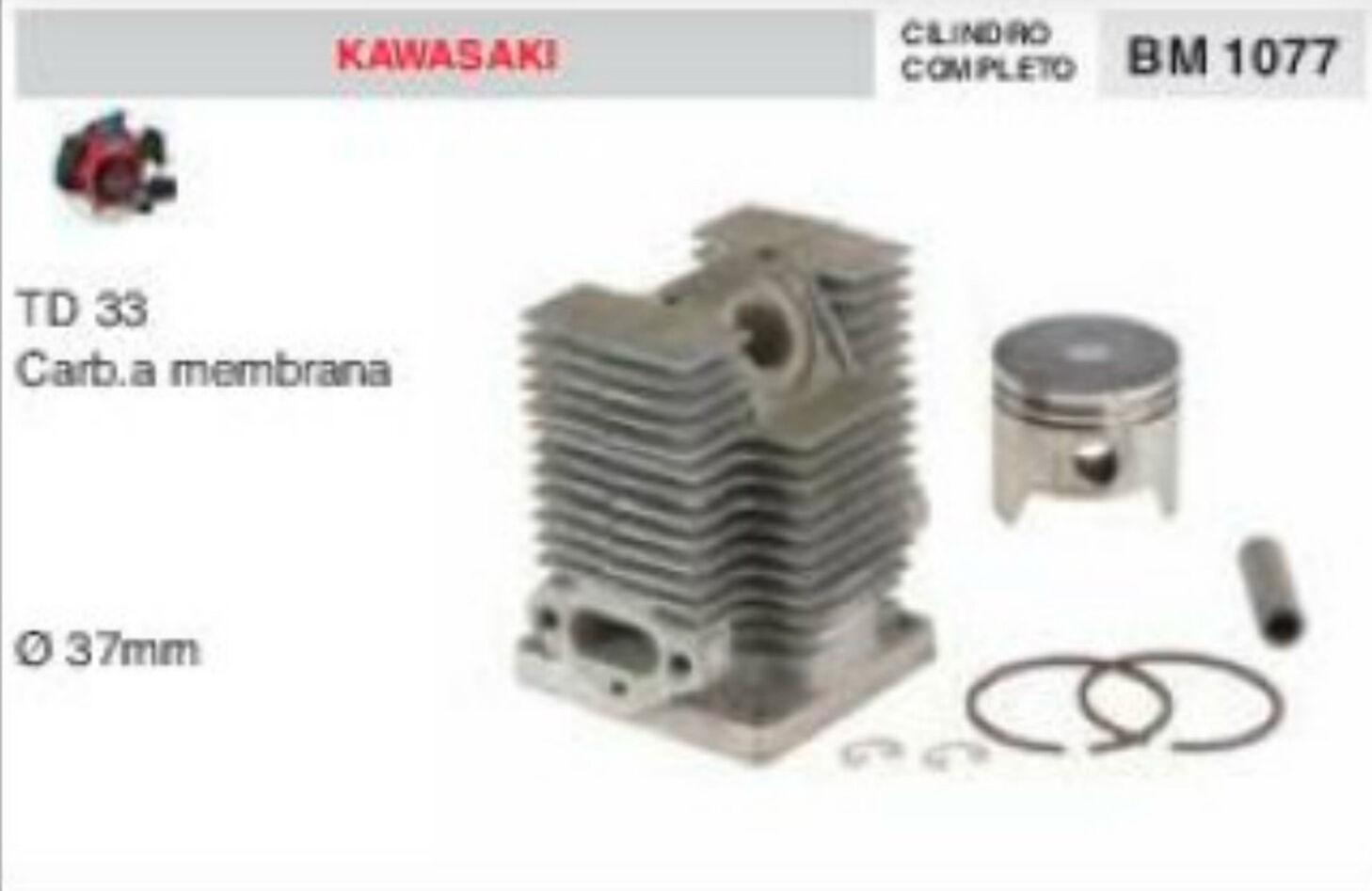 Cylindre et Piston Débroussailleuse Kawasaki Td33 Td 33 Ø 37 mm Cocheb à Membrane