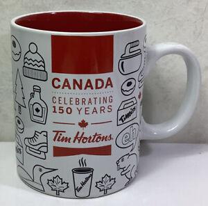 Tim Hortons Canada Celebrating 150 Years Coffee Mug Beaver Hockey Celebration