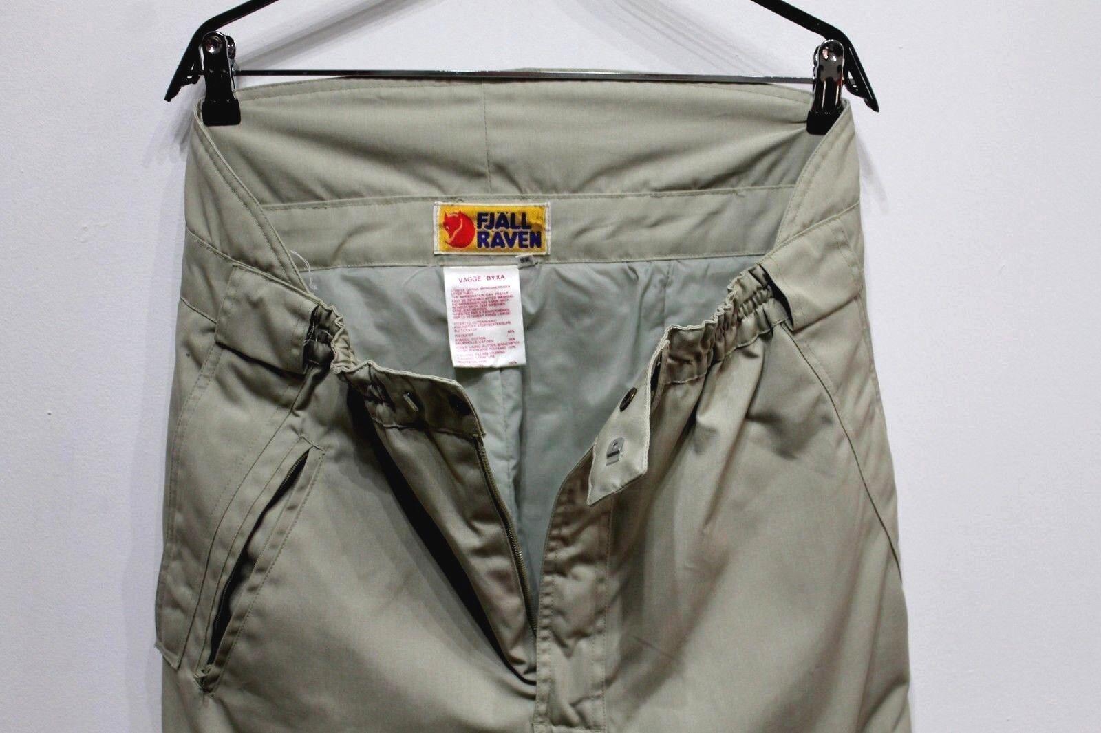 VTG Fjallraven Ski Snow Pants Trousers INSULATE Beige Cotton Poliester Sz. 52