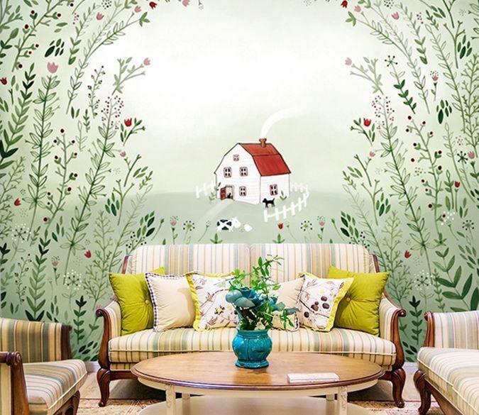 3D Woods, casa 25 Parete Murale Foto Carta da parati immagine sfondo muro stampa