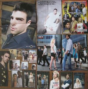 Heroes-Zachary-Quinto-Ali-Larter-TV-Show-Clippings-Posters-Cast-French-Magazine