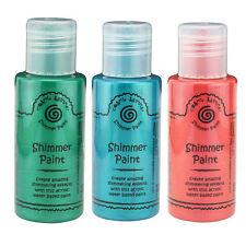 Cosmic Shimmer Acrylic Shimmer Paint Set - Malachite, Peacock, Harvest Gold