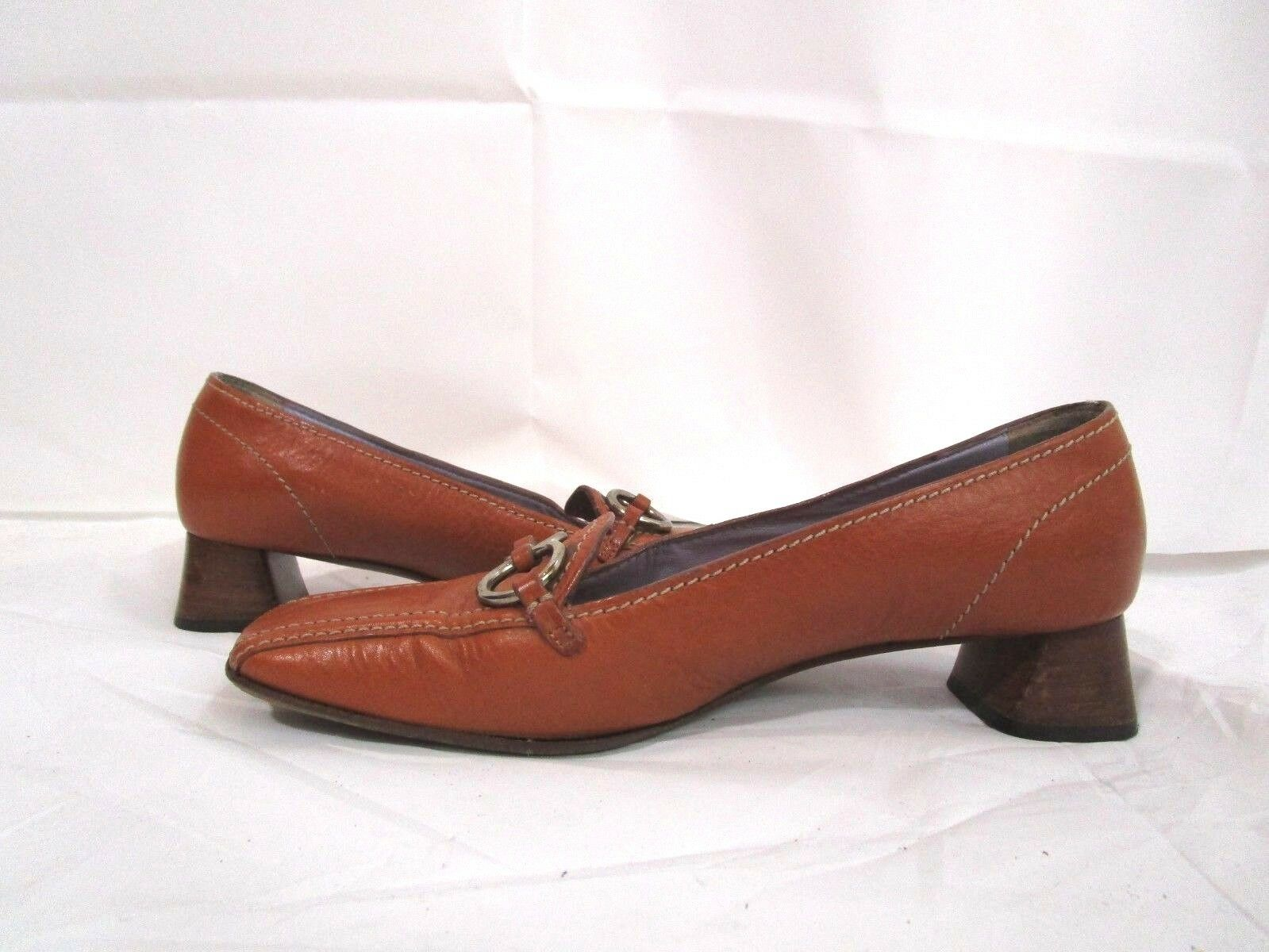 Prada Block Heels Light Braun Pumps Leder  Pumps Braun Loafer  39/9 e5be40