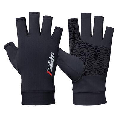Sports Halber Finger Angelhandschuhe Handschuhe Outdoor Angeln Fingern Fäustling
