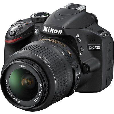 NIKON D3200 Twin Lens Kit DSLR Camera Black